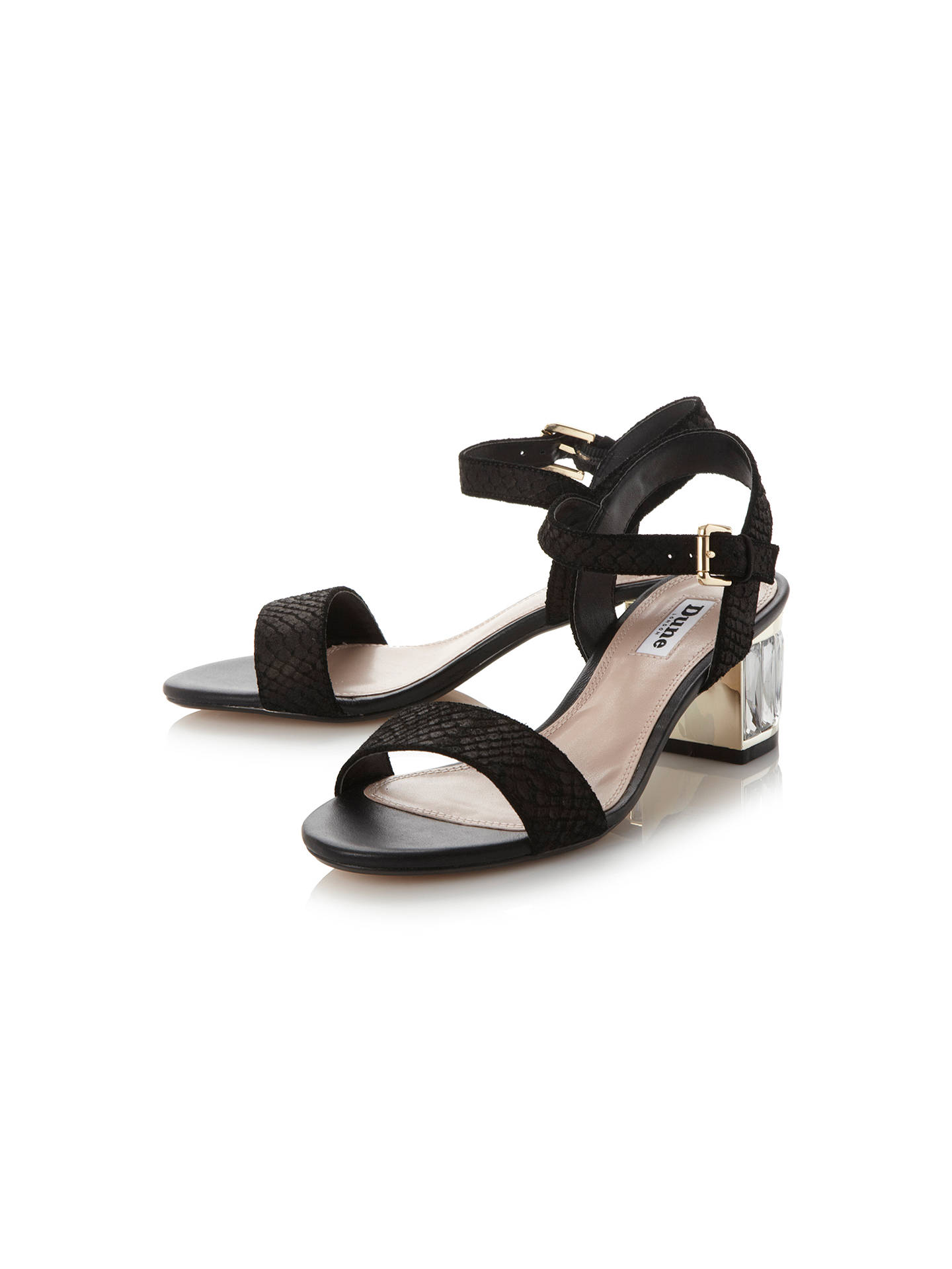 f1bed7c24 Dune Marcia Jewelled Block Heel Sandals at John Lewis   Partners