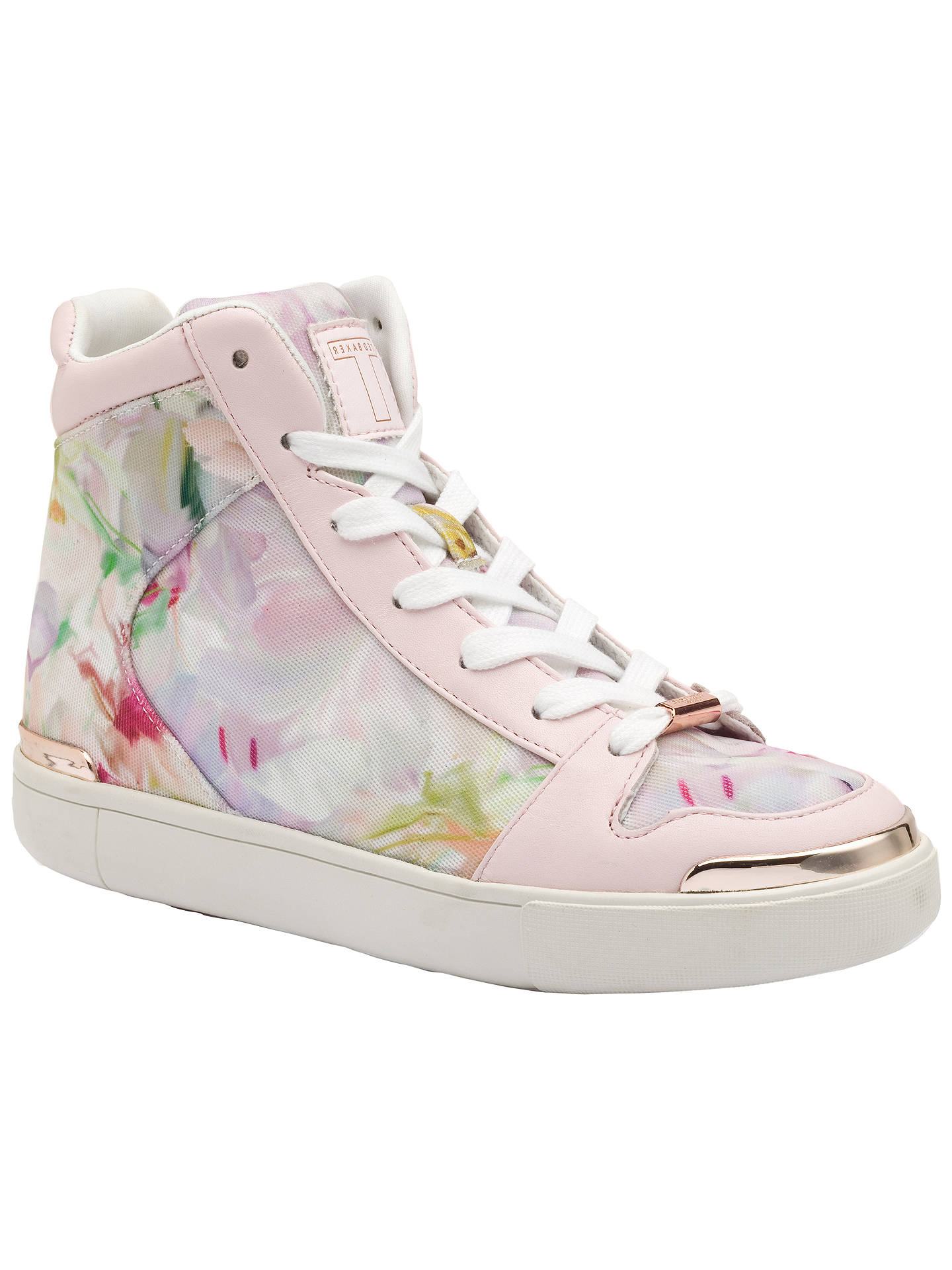 d86b8284e34 Buy Ted Baker Paryna High Top Flat Trainers, Blush Print, 4 Online at  johnlewis ...
