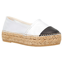Buy KG by Kurt Geiger Mellow Platform Espadrilles, Silver Leather Online at johnlewis.com