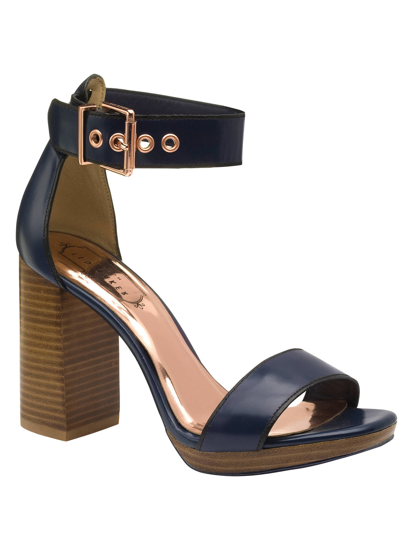 95563380f6e3 Ted Baker Lorno Block Heeled Sandals at John Lewis   Partners