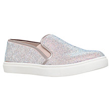Buy Carvela Jamie Embellished Slip On Trainers, Nude Online at johnlewis.com