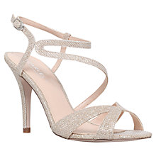 Buy Carvela Ladybird Stiletto Heeled Sandals, Gold Online at johnlewis.com