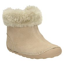 Buy Clarks Children's Little Bounce Suede Boots, Natural Online at johnlewis.com