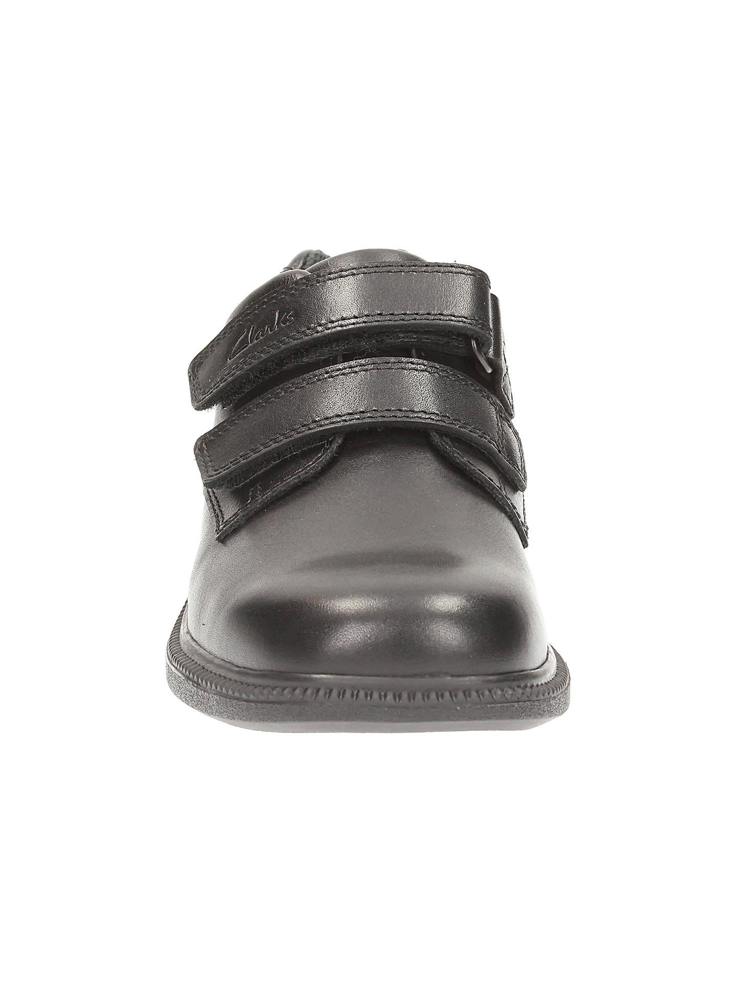 Boys Clarks Black Leather School Shoe Deaton