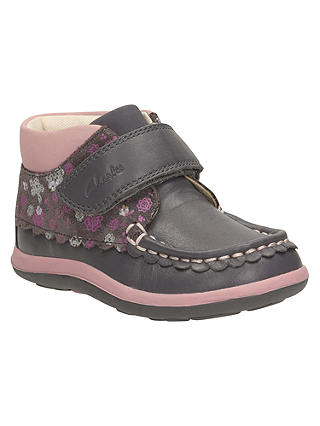 Buy Clarks Children's Alanna Lyn Casual Shoes, Grey, 3F Jnr Online at johnlewis.com