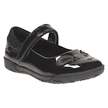 Buy Clarks Children's Nibbles Bee Pat School Shoes, Black Patent Online at johnlewis.com