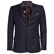 Buy Ted Baker Arjunj Check Tailored Fit Suit Jacket, Navy Online at johnlewis.com