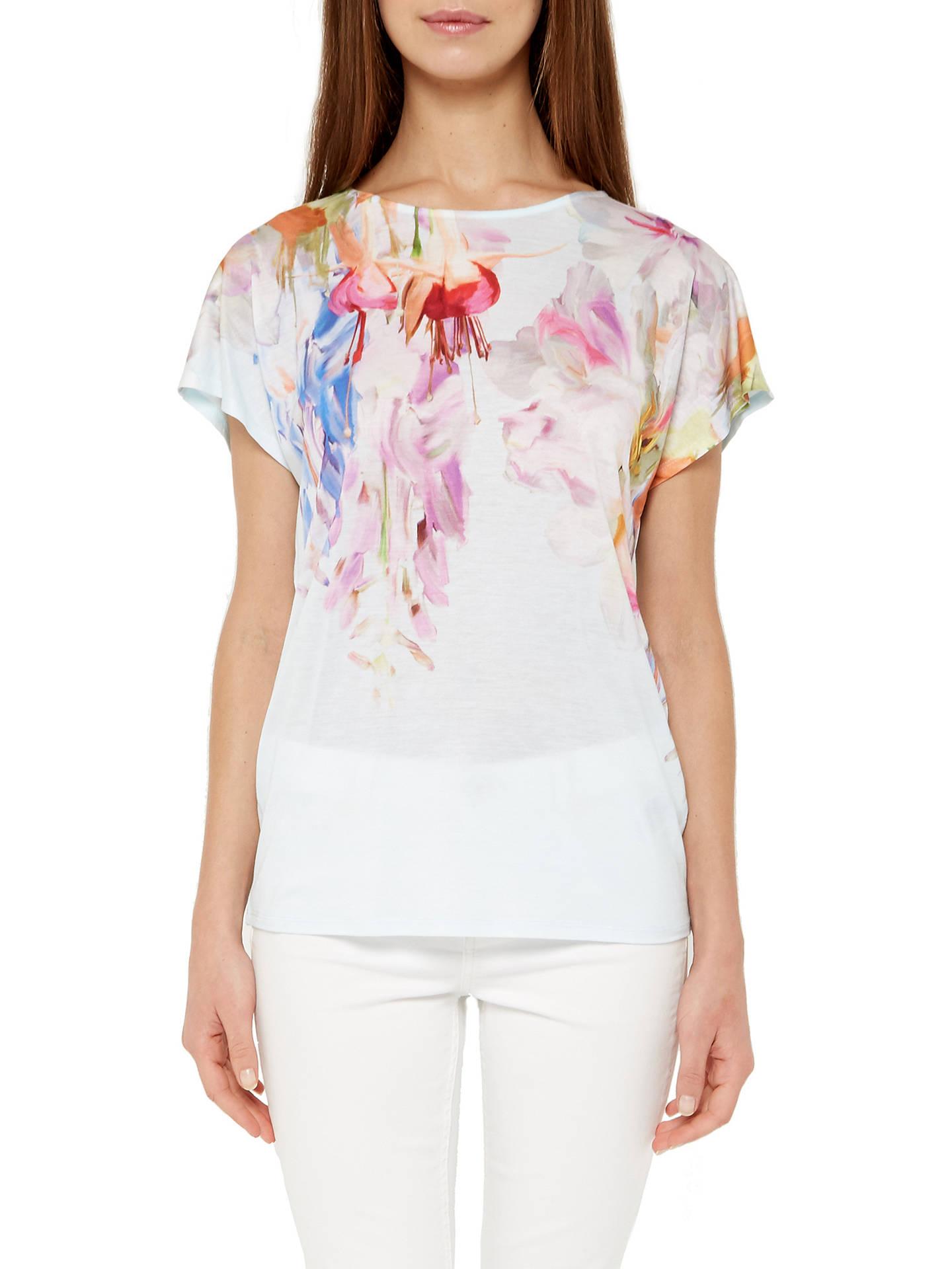 c60906752 ... Buy Ted Baker Efuna Hanging Garden T-Shirt, Mint, 6 Online at johnlewis  ...
