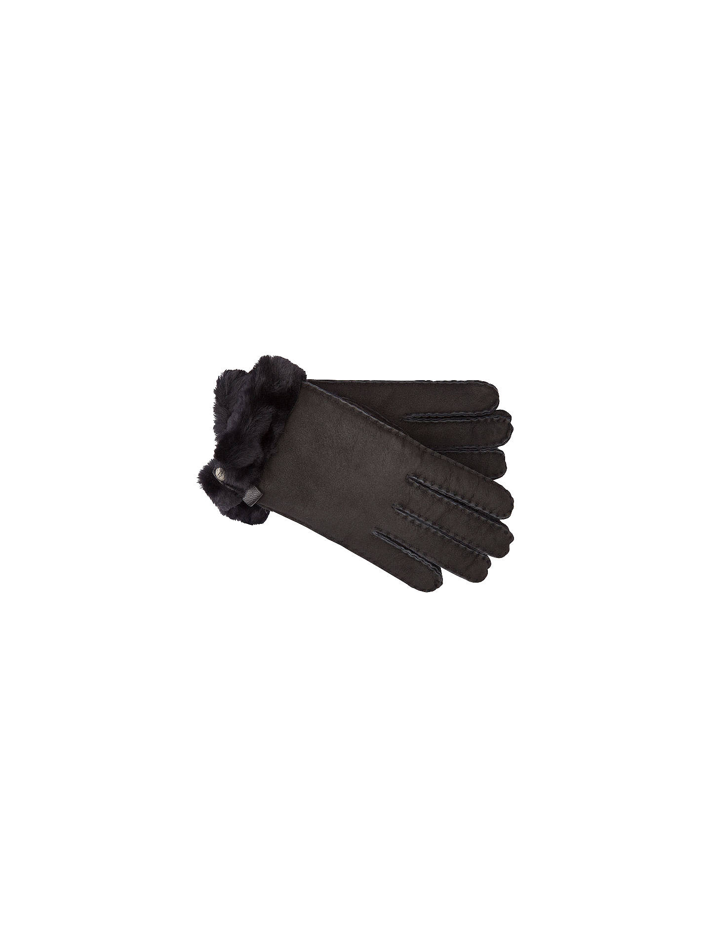f2ec32b5a Buy UGG Tenney Sheepskin Gloves, Black, S Online at johnlewis.com