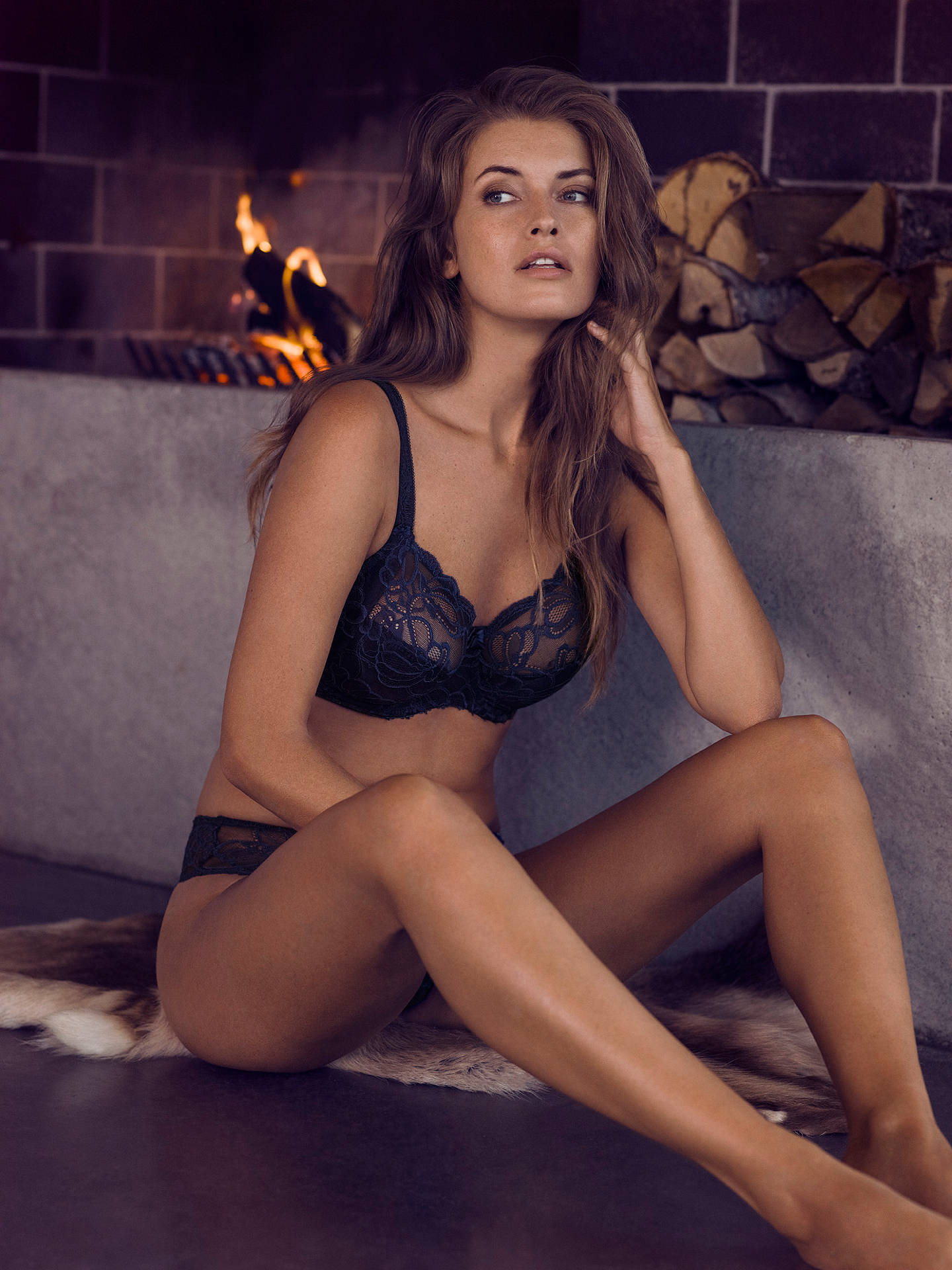 6276a4dd1d74e ... Buy Fantasie Jacqueline Lace Full Cup Bra, Navy, 36E Online at  johnlewis.com ...