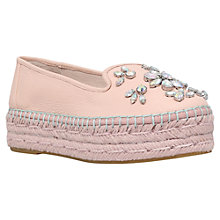 Buy Carvela Lolly Flatform Loafers, Nude Online at johnlewis.com