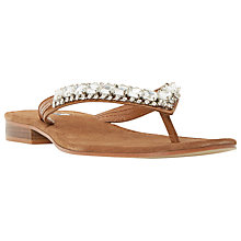 Buy Dune Nevah Embellished Toe Post Sandals Online at johnlewis.com