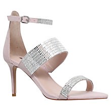 Buy Carvela Gas High Heel Sandals, Nude Suedette Online at johnlewis.com