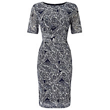Buy Phase Eight Leaf Print Lace Dress, Navy/Ivory Online at johnlewis.com