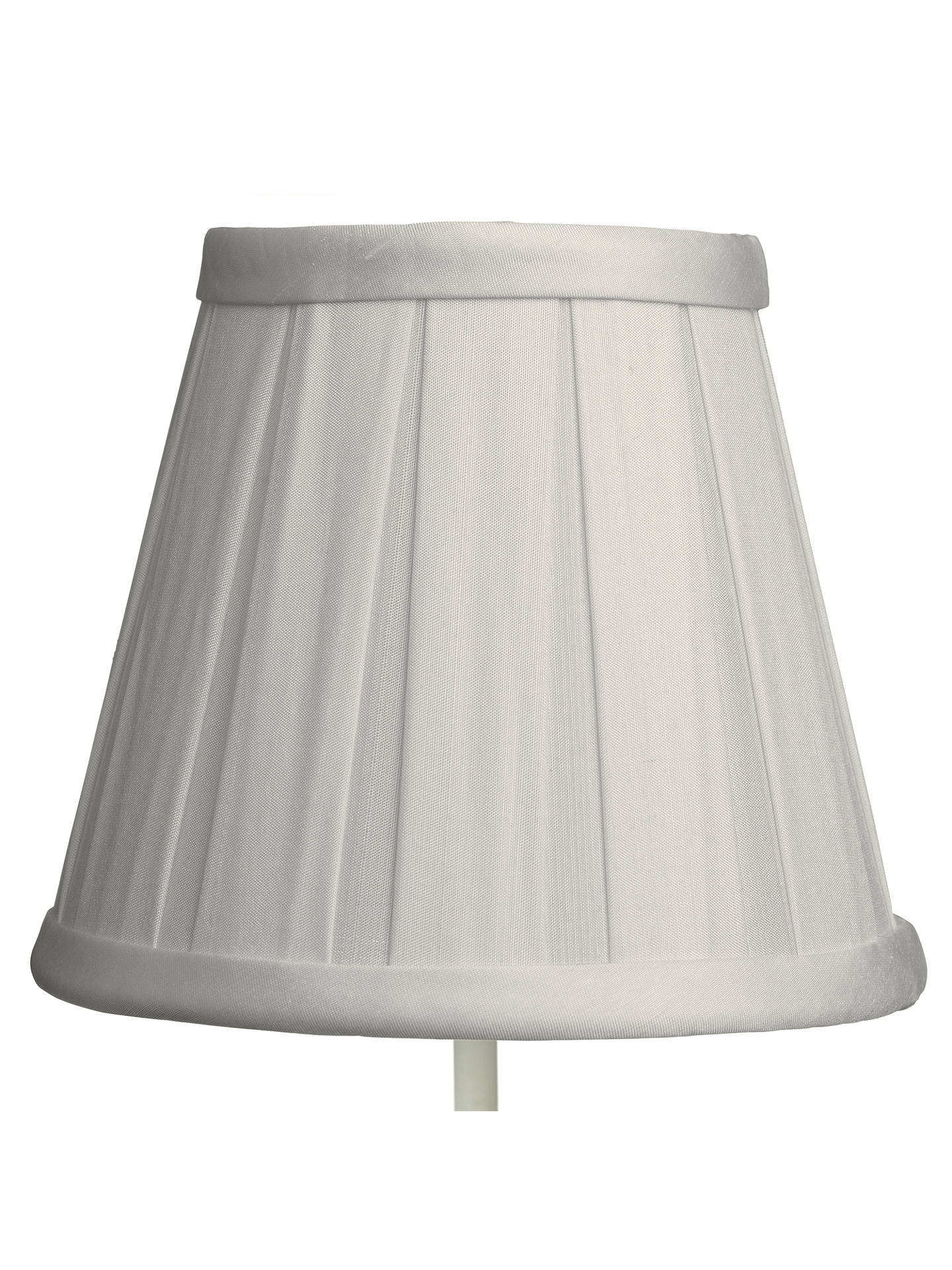 John Lewis Oratorio Silk Candle Lampshade Grey At Johnlewis Com