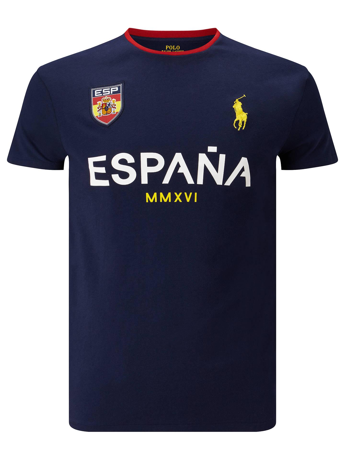 9f0e3cf1 Buy Polo Ralph Lauren Spain Short Sleeve Crew Neck T-Shirt, Cruise Navy, ...