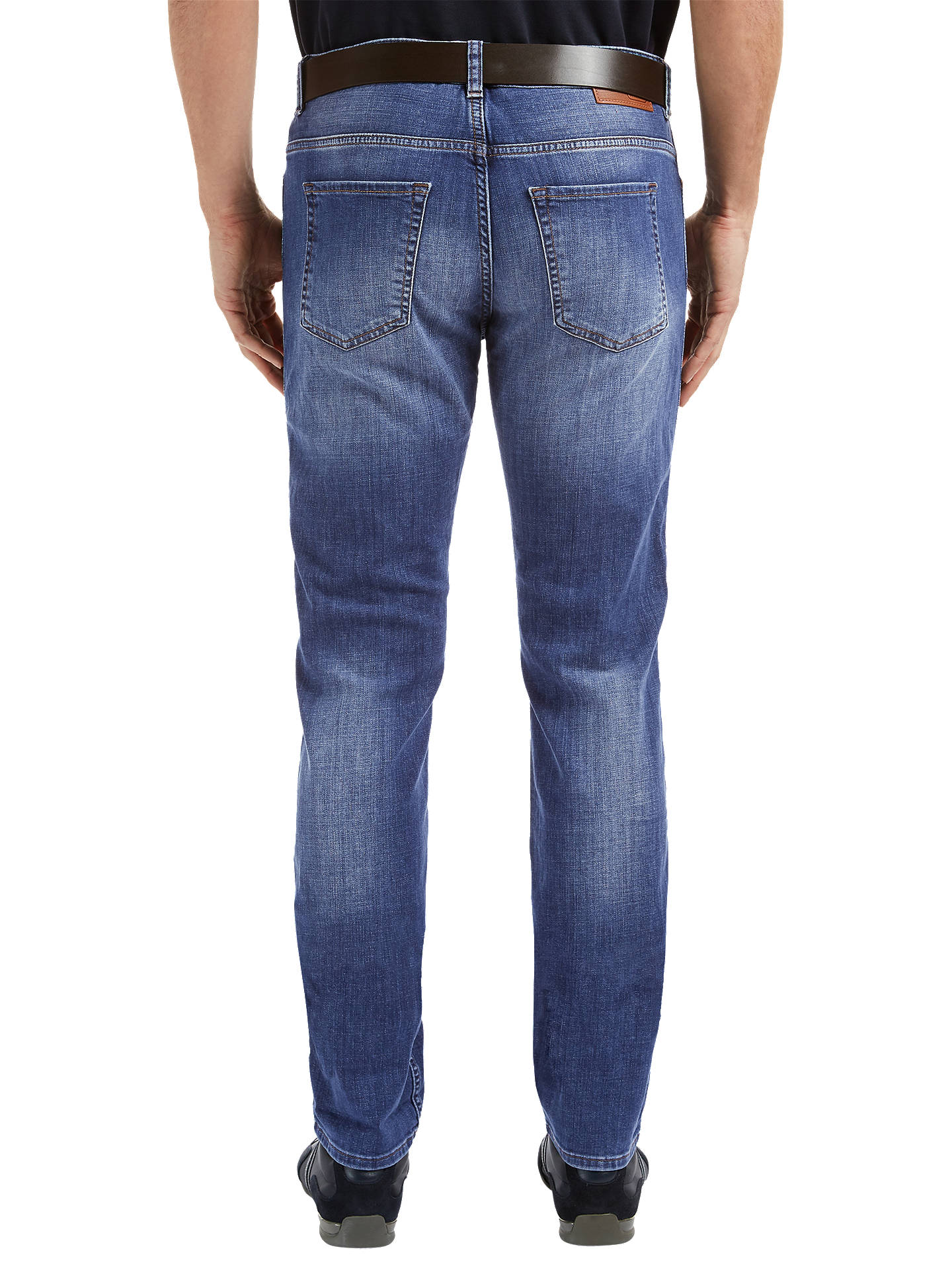 BuyBOSS Green Delaware Jeans, Medium Blue, 30R Online at johnlewis.com