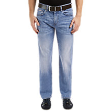 Buy BOSS Green Kansas Regular Fit Jeans, Blue Online at johnlewis.com