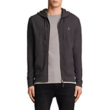 Buy AllSaints Clash Full Zip Hoodie, Washed Black Online at johnlewis.com