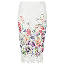 Buy Damsel in a dress Botanical Pencil Skirt, Cream Online at johnlewis.com