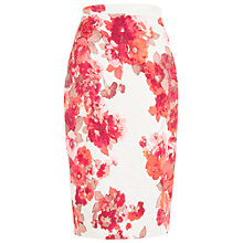 Buy Damsel in a dress Preppy Pencil Skirt, Cream/Red Online at johnlewis.com