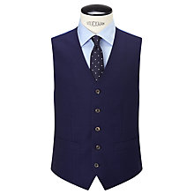 Buy Chester by Chester Barrie Hopsack Wool Tailored Waistcoat, Navy Online at johnlewis.com