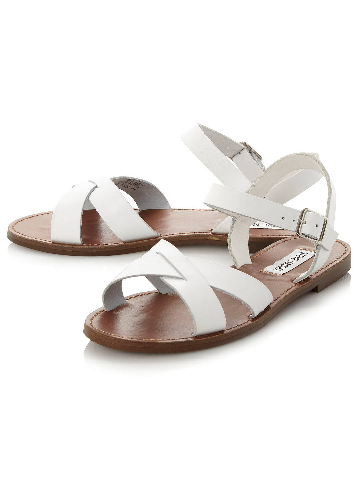 2d2d7eb0778 Steve Madden Dublin Cross Strap Flat Sandals at John Lewis & Partners
