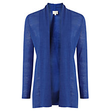 Buy East Edge to Edge Linen Cardigan, Blue Online at johnlewis.com