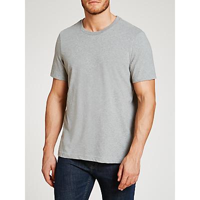 John Lewis Jersey Cotton Crew Neck Lounge T-Shirt, Grey