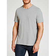 Buy John Lewis Jersey Cotton Crew Neck Lounge T-Shirt, Grey Online at johnlewis.com