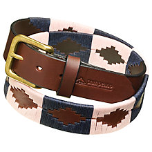Buy pampeano Leather Polo Belt, Hermoso Online at johnlewis.com