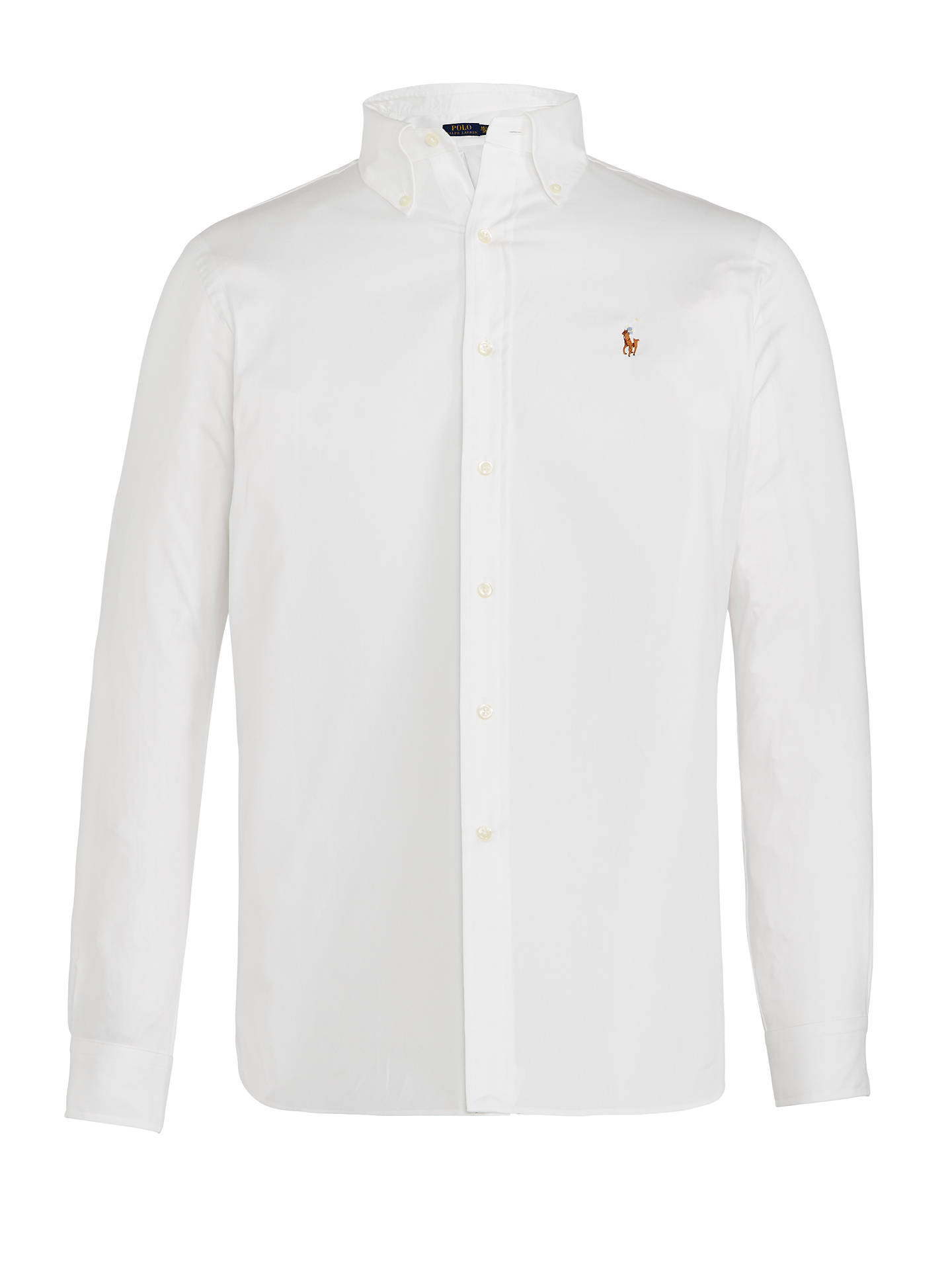 c5c9e6e34c07 Buy Polo Ralph Lauren Shirt Long Sleeve Shirt, White, 15 Online at  johnlewis.