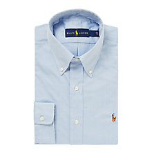 Buy Polo Ralph Lauren Oxford Shirt, Blue Online at johnlewis.com