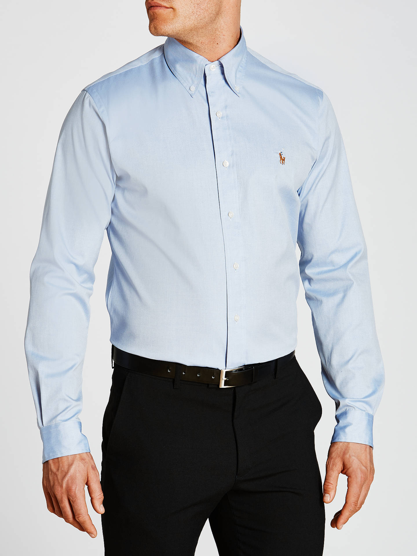 BuyPolo Ralph Lauren Oxford Shirt, Blue, 15.5 Online at johnlewis.com ... 9d8189d01ba4
