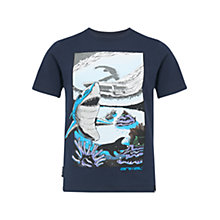 Buy Animal Boys' Shark Print T-Shirt, Navy Online at johnlewis.com