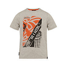 Buy Animal Boys' Scratch Short Sleeve T-Shirt, Grey Online at johnlewis.com