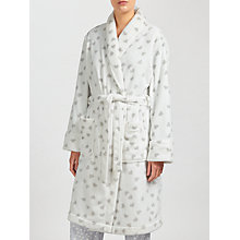 Buy John Lewis Scatter Heart Print Shawl Collar Robe, Ivory/Grey Online at johnlewis.com