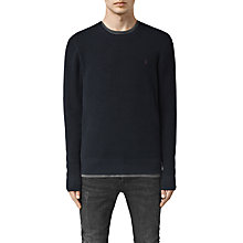 Buy AllSaints Trias Crew Neck Jumper, Ink Navy Online at johnlewis.com