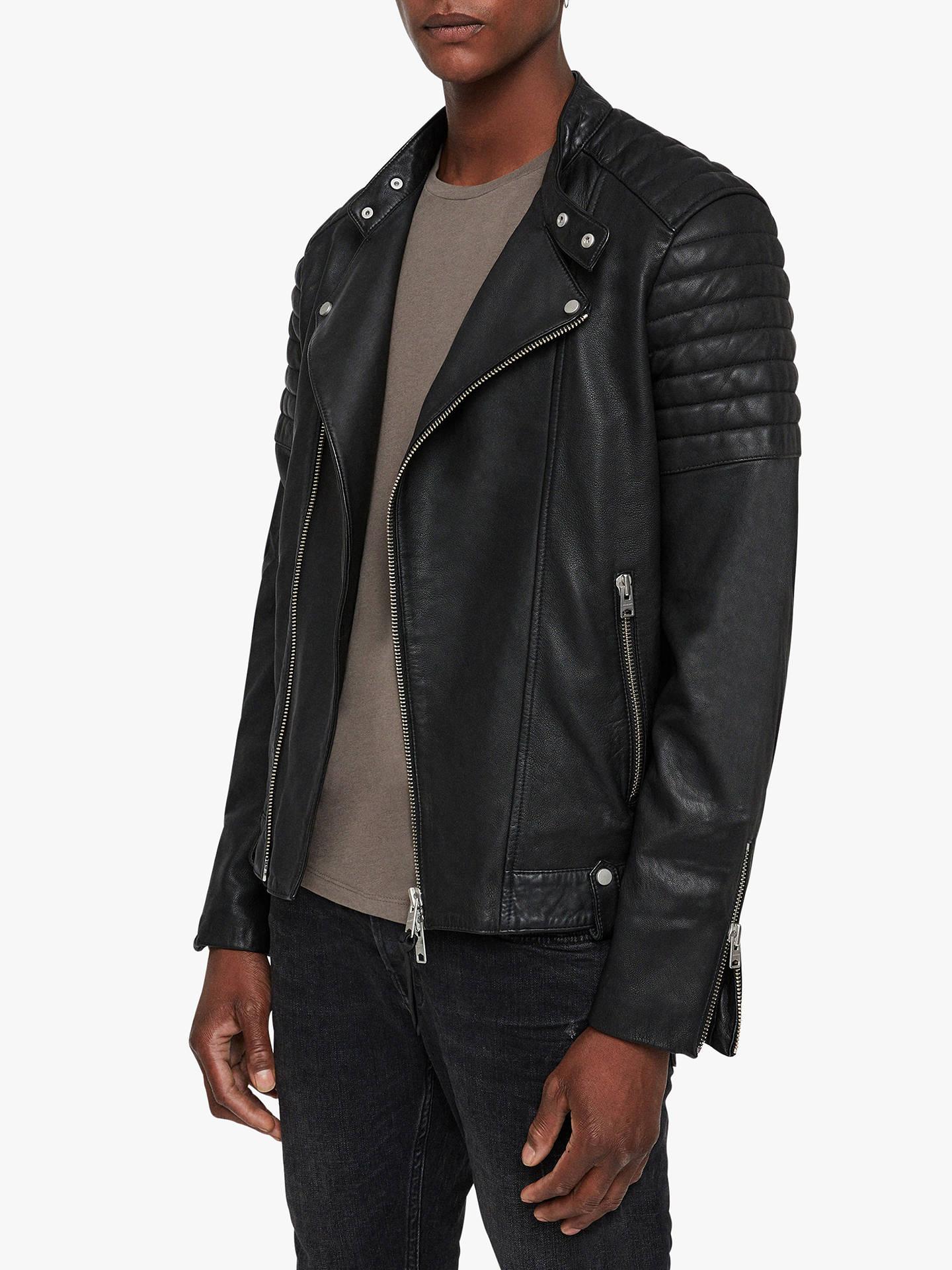 b20e8cdbd AllSaints Jasper Leather Biker Jacket, Black