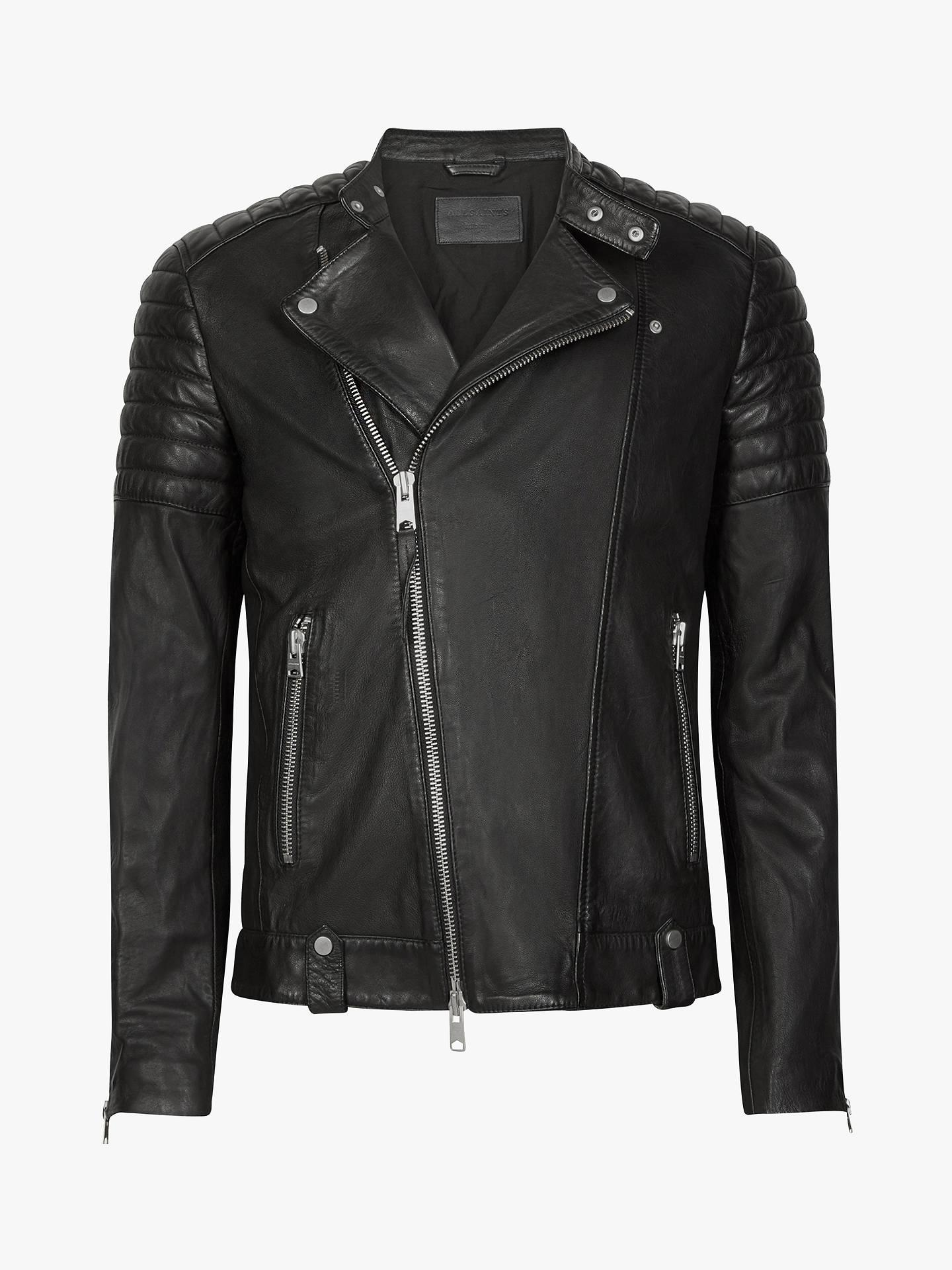 1f7784332 AllSaints Jasper Leather Biker Jacket, Black