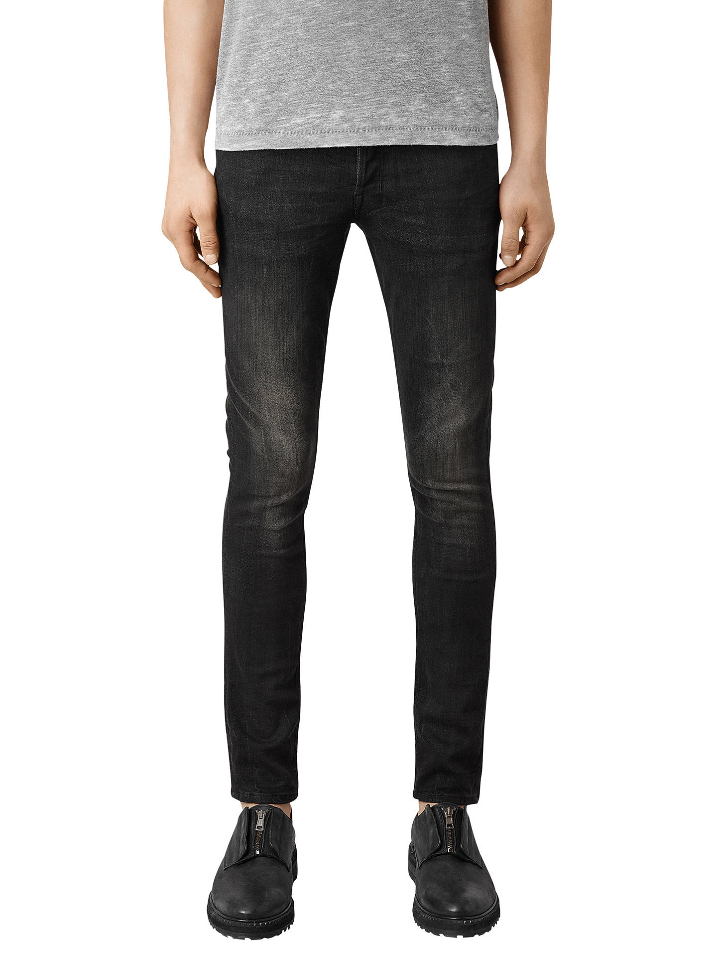 BuyAllSaints Print Cigarette Jeans, Black, 30R Online at johnlewis.com