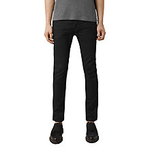 Buy AllSaints Crow Cigarette Skinny Jeans, Jet Black Online at johnlewis.com