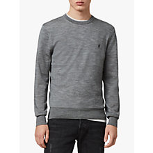Buy AllSaints Mode Crew Jumper, Grey Online at johnlewis.com