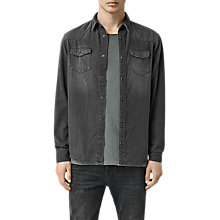 Buy AllSaints Marilla Denim Shirt, Black Online at johnlewis.com