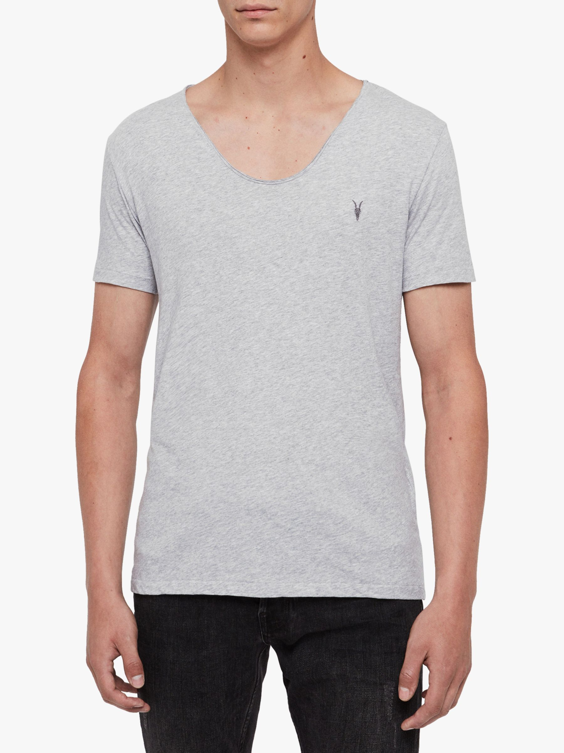 AllSaints AllSaints Tonic Scoop Neck T-Shirt, Grey Marl