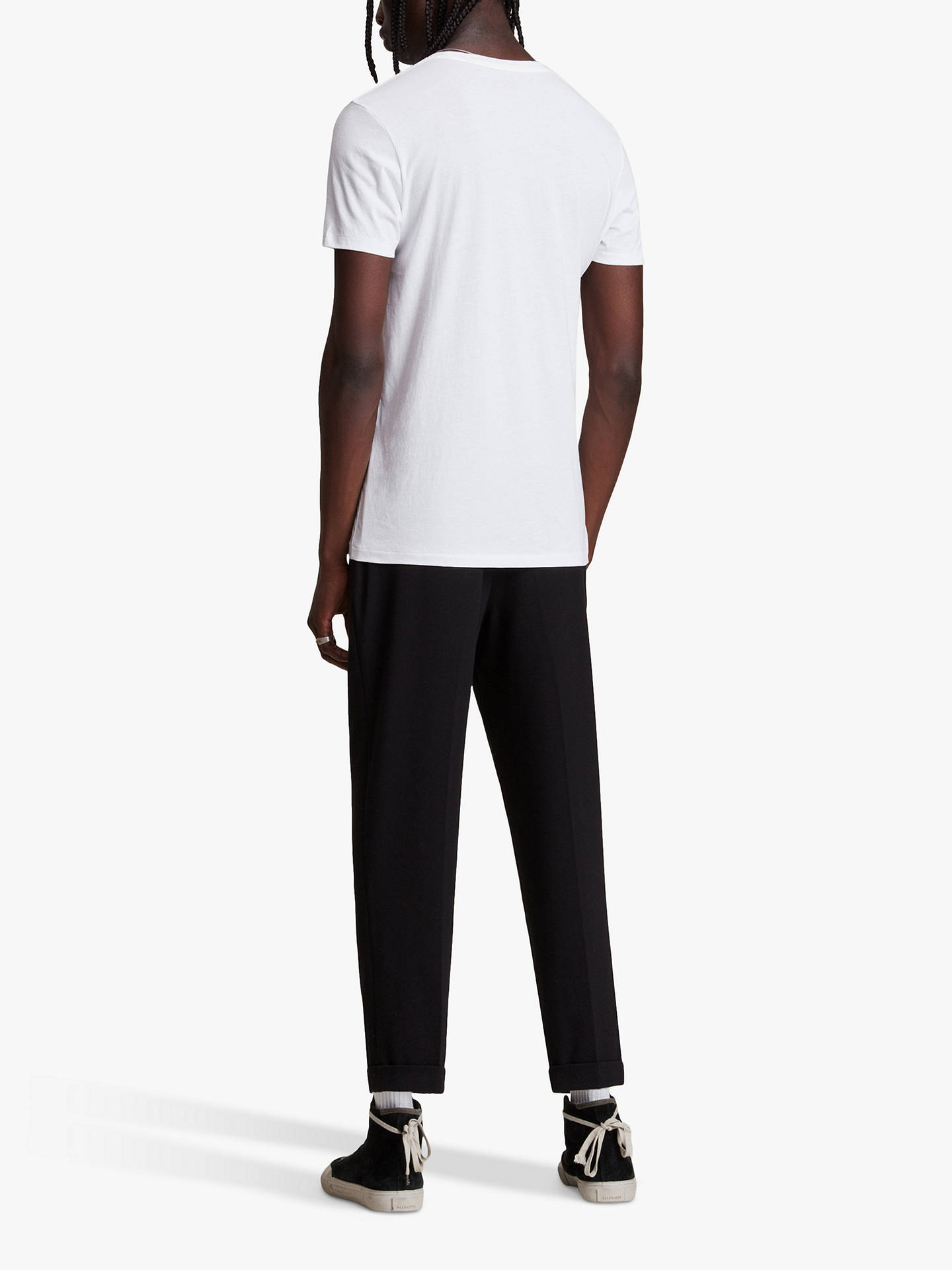 BuyAllSaints Tonic Crew Neck T-Shirt, Optic White, XS Online at johnlewis.com