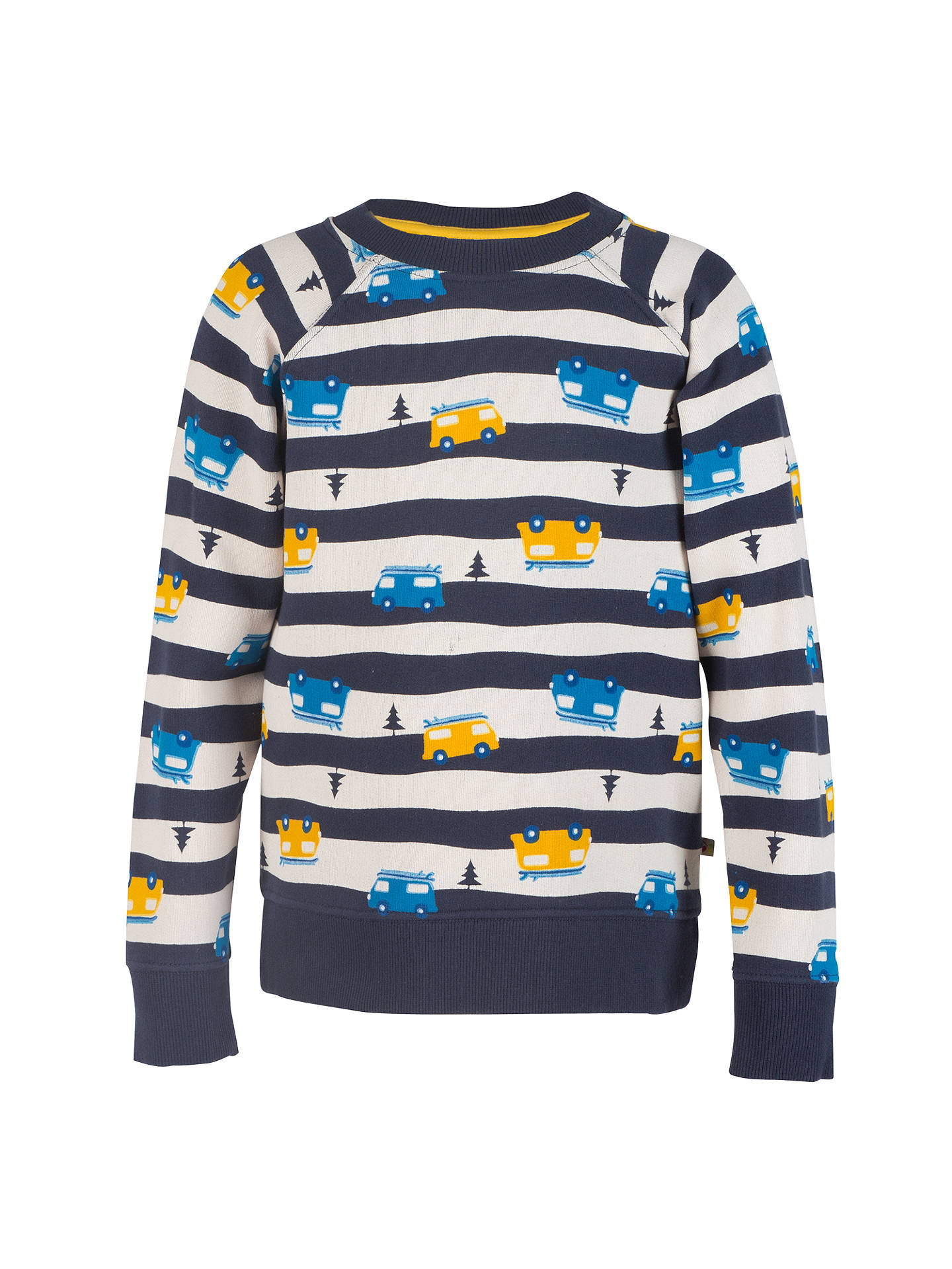 8ec698e31d Buy Frugi Organic Boys  Striped Vans Sweatshirt
