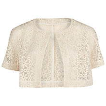 Buy Gina Bacconi Daisy Embroidered Organza Bolero, Ivory Online at johnlewis.com
