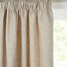 Buy John Lewis Country Damask Lined Pencil Pleat Curtains, Natural Online at johnlewis.com