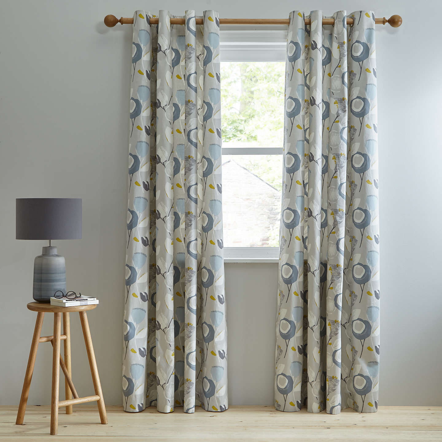 milton blinds curtain freedom slate blockout eyelet curtains